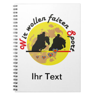For horses and equestrian sports lover note notebook