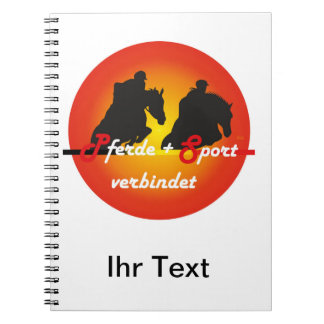 For horses and equestrian sports lover note spiral notebook