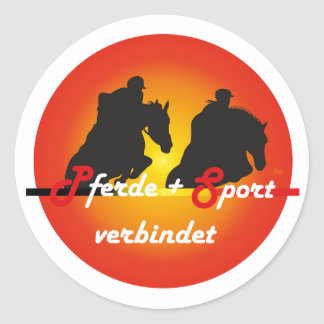 For horses and equestrian sports lover sticker