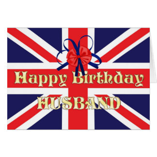 For husband, a Birthday card with a Union Jack