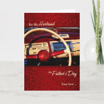 for Husband Father's Day Classic Car Theme Card