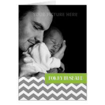 For Husband on Father's Day Custom Photo Card