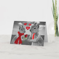 For Husband on Valentine's Day Funny Squirrel Holiday Card