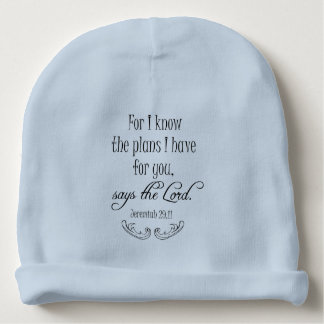 For I Know the Plans I have for You Bible Verse Baby Beanie