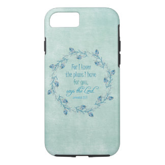 For I Know the Plans I Have for You Bible Verse iPhone 8/7 Case