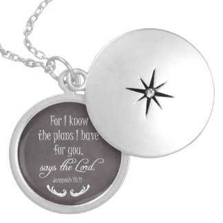 For I Know the Plans I Have for You Bible Verse Round Locket Necklace