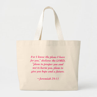 """For I know the plans I have for you,"""" declares ... Jumbo Tote Bag"""