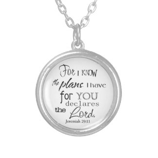 For I Know The Plans I Have For You Quote Personalized Necklace