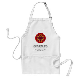 For I know the plans I have ....  Jeremiah 29:11 Adult Apron