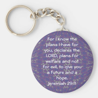 For I know the plans I have  - Jeremiah 29:11 Basic Round Button Keychain