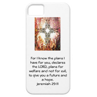 For I know the plans I have ....  Jeremiah 29:11 iPhone SE/5/5s Case