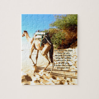 For I know the plans I have ....  Jeremiah 29:11 Jigsaw Puzzle