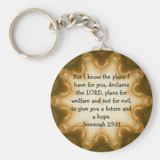 For I know the plans I have ....  Jeremiah 29:11 Keychain
