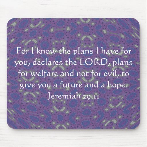 For I know the plans I have  - Jeremiah 29:11 Mousepads