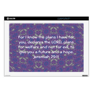 For I know the plans I have  - Jeremiah 29:11 Laptop Skin