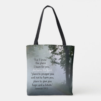 For I Know the Plans I Have, Scripture Jeremiah 29 Tote Bag