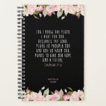 "For I Know the Plans Pink Floral Bible Verse Planner<br><div class=""desc"">A beautiful planner for the new year, reminding you of God"