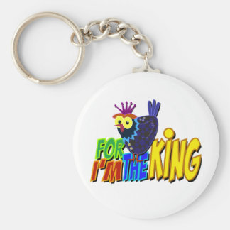 For I'm the King Basic Round Button Keychain