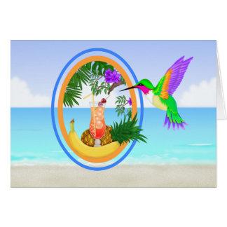 For J - #2 Beach Paradise Thank You / Blank Card