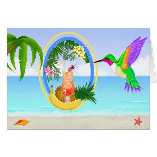 For J - #3 Beach Paradise Blank Card