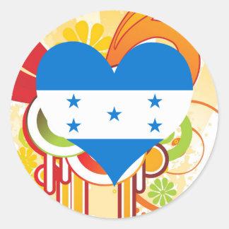 For Kids: Cool Honduras Classic Round Sticker