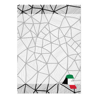 """For Kids: Creative Kuwait Flag With Map 5"""" X 7"""" Invitation Card"""