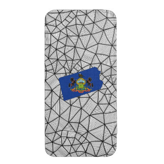 For Kids: Creative Pennsylvania Flag With Map iPhone 5 Pouch