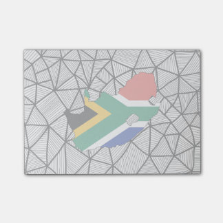 For Kids: Creative South Africa Flag With Map Post-it Notes