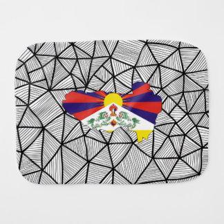 For Kids: Creative Tibet Flag With Map Burp Cloth