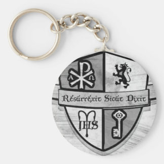 For King and Country Black and White Logo Keychain