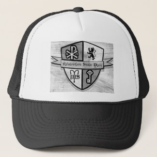 For King and Country Black and White Logo Trucker Hat