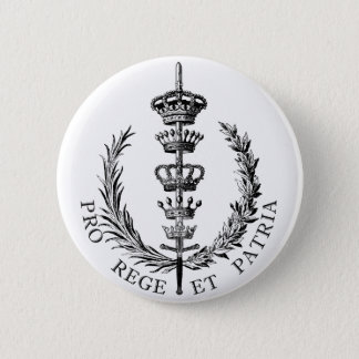FOR KING AND COUNTRY PINBACK BUTTON