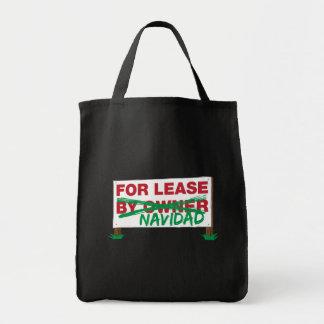 For Lease Navidad - Feliz Navidad Funny Christmas Bag