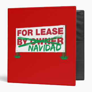 For Lease Navidad - Feliz Navidad Funny Christmas 3 Ring Binders