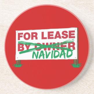 For Lease Navidad - Feliz Navidad Funny Christmas Coaster