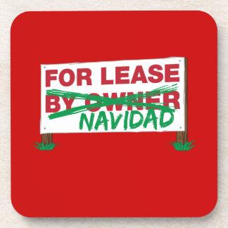 For Lease Navidad - Feliz Navidad Funny Christmas Drink Coaster