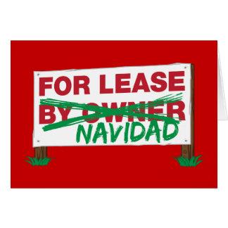 For Lease Navidad - Feliz Navidad Funny Christmas Greeting Card