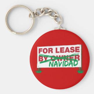 For Lease Navidad - Feliz Navidad Funny Christmas Keychain