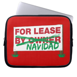 For Lease Navidad - Feliz Navidad Funny Christmas Computer Sleeves