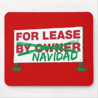 For Lease Navidad - Feliz Navidad Funny Christmas Mousepad