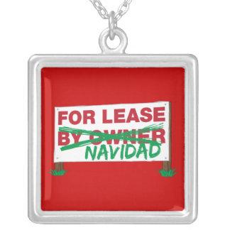 For Lease Navidad - Feliz Navidad Funny Christmas Custom Necklace