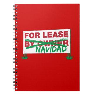 For Lease Navidad - Feliz Navidad Funny Christmas Note Books