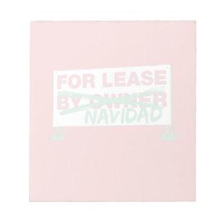 For Lease Navidad - Feliz Navidad Funny Christmas Memo Note Pads