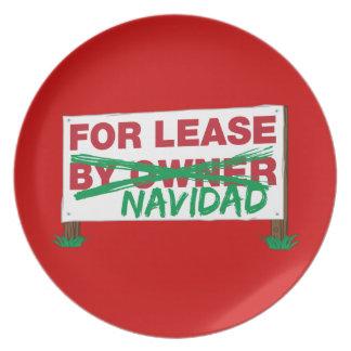 For Lease Navidad - Feliz Navidad Funny Christmas Party Plate