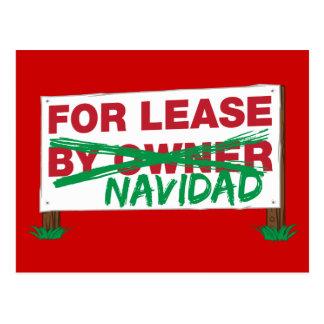 For Lease Navidad - Feliz Navidad Funny Christmas Post Cards