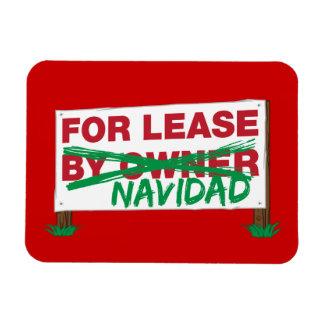 For Lease Navidad - Feliz Navidad Funny Christmas Rectangular Magnets