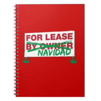 For Lease Navidad - Feliz Navidad Funny Christmas Spiral Notebooks