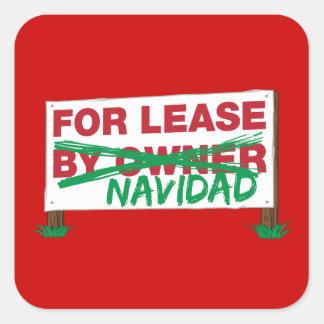 For Lease Navidad - Feliz Navidad Funny Christmas Square Sticker