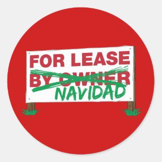 For Lease Navidad - Feliz Navidad Funny Christmas Stickers