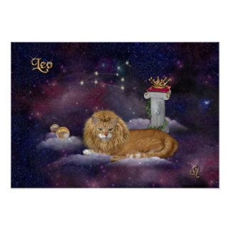 For Leos and Cat Lovers Poster
